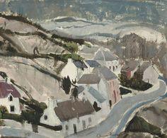 Casas em Skye, 1965 Anne Redpath (Escócia, 1895-1965) aquarela sobre papel