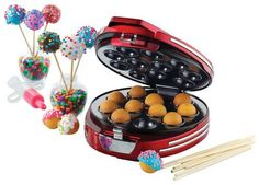 Nostalgia Electrics - Retro Series '50s-Style Cake Pop and Donut Hole Maker - Red, RCPM900