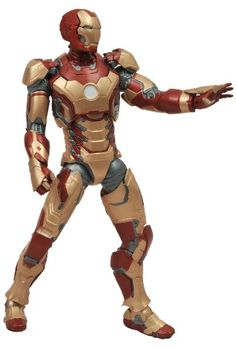 Diamond Select Toys Marvel Select Iron Man 3 Movie Iron Man Mark 42 Action Figure ** For more information, visit image link.