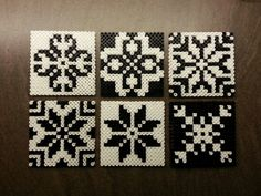 Hama beads, coasters or tiles - Norwegian inspired patterns. Made by Montoya: Would do them in color Perler Beads, Hama Beads Coasters, Perler Bead Art, Fuse Beads, Hama Coaster, Glass Beads, Perler Bead Designs, Hama Beads Design, Pearler Bead Patterns