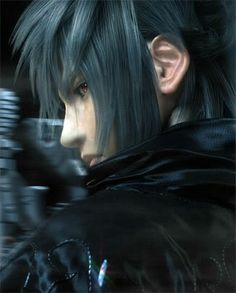 Good bye Final Fantasy Versus Still makes me sad. I was so looking forward to this game. Final Fantasy Xv, Final Fantasy Characters, Fantasy Male, Noctis And Luna, Noctis Lucis Caelum, Anime Eyes, Boy Photos, Male Face, Face Art