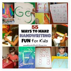 OT Resource/Activities of the Week: 55 Ways to Make Handwriting Practice FUN for Kids- Pinned by @PediaStaff – Please Visit  ht.ly/63sNt for all our pediatric therapy pins