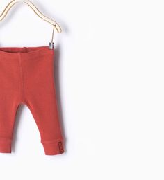 Organic cotton ribbed leggings-Organic cotton-Mini | Newborn-12 months-KIDS | ZARA United States