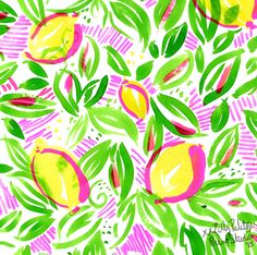 If the lemons are Lilly, think pink as in lemonade.