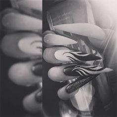 Black & White Stilettonails  ♥♥♥ my claws ♥♥♥