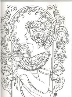 Иллюстрация 19 из 36 для Орнаменты в стиле ар-нуво - Эмили Бон | Лабиринт - книги. Источник: Дробинина  Ольга Александровна