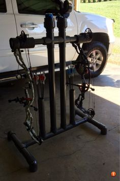Let's see pics of your homemade bow holders for target practice! - Page 9