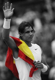 rafael nadal b+w and colour by ~metfan616 on deviantART