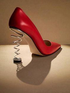 #zapato #rojo #resorte