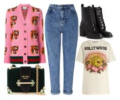 """""""street style"""" by sisaez ❤ liked on Polyvore featuring Gucci, Prada, Miss Selfridge and Marc Jacobs"""