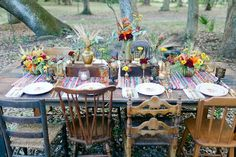 Bohemian Fall Table Setting 2