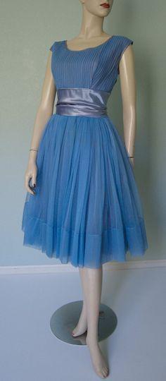 1960s Emma Domb Brilliant Blue // Micro by KittyGirlVintage