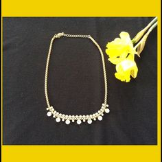 Trendy Statement Necklace Bling & Gold Necklace. So trendy! Jewelry Necklaces