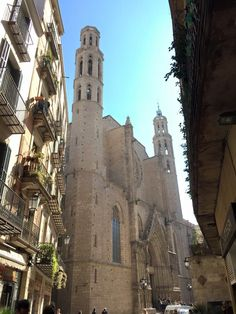 Beautiful Barcelona! This is the Basilica de Santa Maria del Mar - read about our adventures in Barcelona on the blog :)