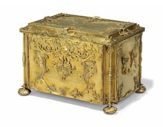 An Austrian gilt-copper writing casket, by Georg Martin Gizl, Salzburg, circa 1740-44.