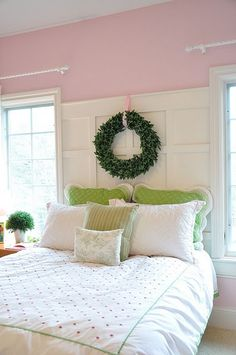 Sherwin Williams Priscilla Pink bedroom | Involving Color Paint Color Blog