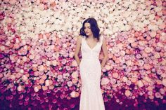 The Daalarna Flower Collection for Spring 2016 is a fabulously feminine bridal collection full of lace, tulle, pearls and pretty watercolour florals. Wedding Dress Cake, Wedding Dress Styles, Wedding Attire, Zuhair Murad, Ethereal Wedding Dress, Boho Gown, Bridal Jumpsuit, Bridal Boutique, Wedding Trends