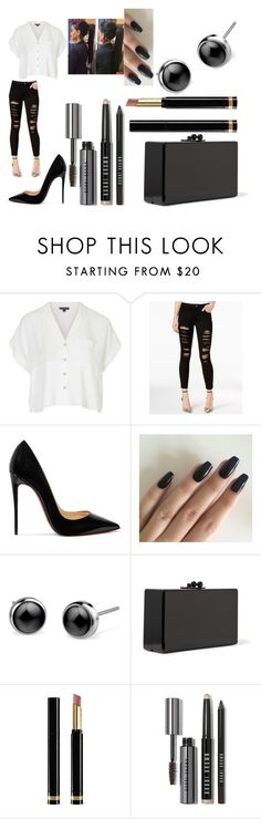 """""""Untitled #1565"""" by kkfeher ❤ liked on Polyvore featuring Topshop, Joe's Jeans, Christian Louboutin, Edie Parker, Gucci and Bobbi Brown Cosmetics"""