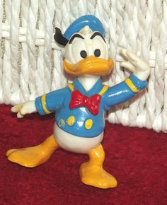 Vintage 3D Disney Cake Topper Donald Duck, Donald Duck figure-New-Rare-1986 by BunkysVintageCrafts on Etsy