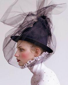 WEBSTA @ joannabacas - Beauty Verena @vivamodelsberlin shot by genius @ryantandya - styling @lisafilippini hair and makeup yours truly using @maccosmetics ❤️...#newwork #photoshoot #beauty #fashion #editorial #model #femalesmodel #photographer #styling #stylist #ruffles #tulle #bw #headpiece #polkadots #stinegoya #henrikvibskov #dreamy #studio #berlin #art #doll #makeup #mua #makeupartist #love #ilovemyjob #photooftheday