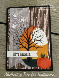 Sheltering Tree for Halloween | Stampin' 365