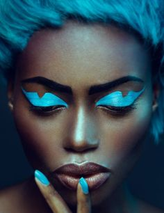 Image result for blue make up