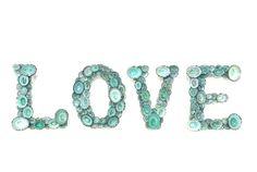 Plage Decor  lettres  Amour  avec naturel par SeashellCollection