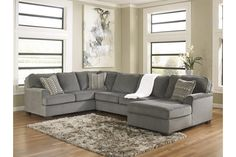 Smoke Loric 3-Piece Sectional View 1