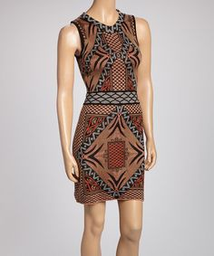 Look what I found on #zulily! Brown Tribal Sleeveless Dress by Sweet Sinammon #zulilyfinds