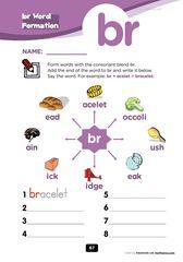 free - Blends Worksheets - Consonant Cluster : br