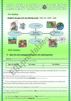 AIR AND LAND POLLUTION***CAUSE/RESULT RELATIONSHIP***u LETTER DIFFERENT PRONUNCIATIONS. 9TH FORMERS TUNISIA Vocabulary Worksheets, Work Activities, Interesting Topics, Comprehension Questions, Group Work, Esl, Relationship, Lettering, Writing
