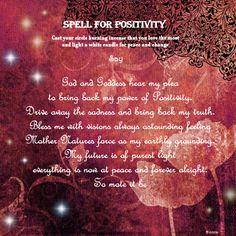 Spell for positivity