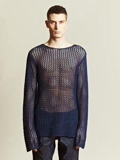 Dries Van Noten 'Nerve' pullover mesh sweater