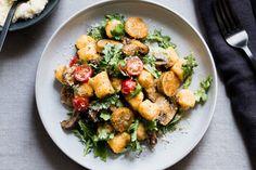 Sweet potato gnocchi with spicy Italian sausage
