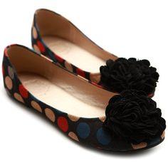 Ollio Womens Ballet Flats Loafers Canvas Dot Pattern Flower Bowed Multi Colored Shoes (5.5 B(M) US, Black) Ollio,http://www.amazon.com/dp/B00BMAO5I0/ref=cm_sw_r_pi_dp_jJ55rb1H3WW1P9ZQ