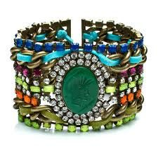 Cuffs can really add a colorful dash to a daytime outfit or glam up an evening look
