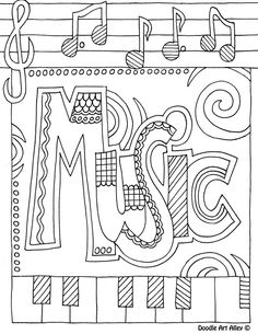binder cover music - Music Coloring Pages