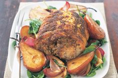 Pecan Pork With Balsamic Onions & Pears Recipe - Taste.com.au