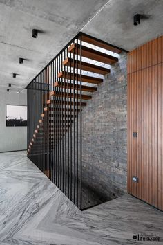 Exposed Brick and RCC creating Compositional Structure of the Residence & a Multilevel Altitude | The Interior Workshop - The Architects Diary Terrace Floor, Terrace Garden, Staircase Design, Staircase Ideas, Jacuzzi Bathroom, Earthy Color Palette, Black And White Painting, Italian Furniture, Ceiling Windows