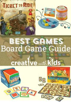 Best board games for toddlers though gradeschoolers - so many fun board games with descriptions and age recommendations