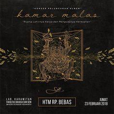 GOTBLUESYOU X GADIS INDIE COLLECTIVE present . KONSER PELUNCURAN ALBUM! K A M A R  M A L A S -  G I E . Jumat Feb 23 2018 Lab. Karawitan Fakultas Bahasa dan Seni Universitas Negeri Yogyakarta . Mengundang semua tanpa terkecuali. Demi satu dari sekian banyak mimpi yang kami perjuangkan di sinilah awalnya. Sebuah ruang lahirnya karya dan menguapnya keresahan. Mari menuju #KamarMalas #AlbumRelease #DebutAlbum . G O T B L U E S Y O U !!! #event #music #blues #release #album #indie #yogyakarta…