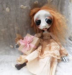 Loopy Gothic Art Doll Ooak Doll Phanie RESERVED by loopyboopy, $295.00