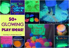 50+ GLOWING play activities- my little ones have had SO MUCH FUN with these !!!!