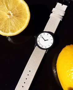 Material Study: Our Sand Twain wristband gives a subtile contrast to strong signature colors.  Shop now tidwatches.com #tidwatches