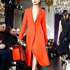 A red lip bag and jacket. Do it. (: @gettyimages from @jasonwu last night) #NYFW  via GLAMOUR MAGAZINE OFFICIAL INSTAGRAM - Celebrity  Fashion  Haute Couture  Advertising  Culture  Beauty  Editorial Photography  Magazine Covers  Supermodels  Runway Models