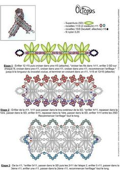Seed bead jewelry free pdf - superduo bracelet schema ~ Seed Bead Tutorials Discovred by : Linda Linebaugh Beaded Braclets, Beaded Bracelet Patterns, Beading Techniques, Beading Tutorials, Seed Bead Patterns, Beading Patterns, Art Perle, Super Duo Beads, Twin Beads