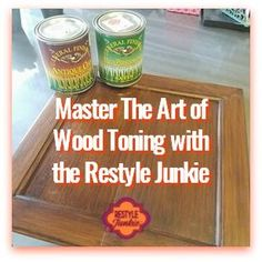 Love the grain? Tired of the Color? Learn how to use Wood Toning to change this. Water-based Stain has low fumes and dries quickly, making it an ideal technique to use indoors. Join me Dec 19th for a LIVE WEBINAR to learn how to Master the Art of Wood Toning. #SaveTheGrain
