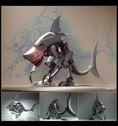 Shark Rex by heckthor.deviantart.com on @deviantART