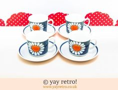 Buy Handmade Funky Crochet Online - Buy yay retro Handmade Crochet online - Arts & Crafts Shop, crochet shawls, wraps, blankets, hot water bottle covers and vintage textile cushions. Vintage Branding, Craft Shop, China Patterns, Vintage Textiles, Vintage China, Tea Set, Online Art, Vintage Shops, Tea Cups