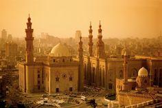 Las mezquitas del Sultán Hasan y Al-Rifai Vista desde la Ciudadela